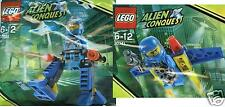 2x LEGO Alien Conquest ADU Walker SELTEN + Jetpak Promo Sets 30140 + 30141