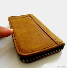 genuine full leather Case For Samsung Galaxy Note II 2 book wallet handmade NEW