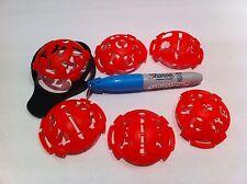 6 PEZZI JL Golf Ball Marker Pen & template.waterproof align-em-up + SHARPIE PEN