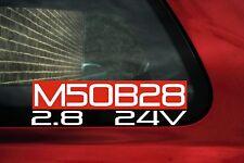 M50B28 2.8 24v sticker. for BMW e36 328i / e38 728i, / Z3 2.8