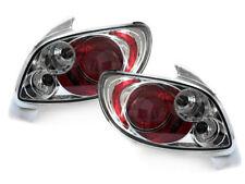 Par de faros luces traseras TUNING PEUGEOT 206 98-05 3/5 porte LEXUS CROMADOS