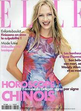 ELLE n°2822 uma thurman johnny depp tim roth    2000