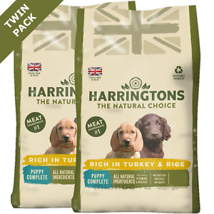 Harringtons Complete Dry Puppy Food Rich in Turkey and Rice, Twinpack 2 x 2kg