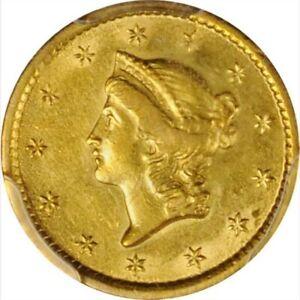 1852-O $1 Gold Liberty Coin,PCGS Graded AU55