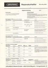 GRUNDIG - Music-Boy 400 E - Reparaturhelfer Abgleich-Anleitung Schaltb. - B10259