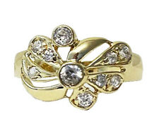 Ring With Cz 14k yellow Gold Women's