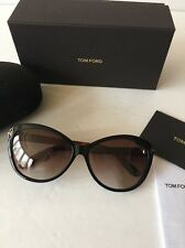 New Tom Ford Sunglasses TF325 Telma 03F Black / Brown Havana FT0325/S Authentic