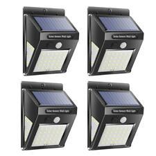 4X 40LED Wandleuchte Solarleuchte mit PIR Bewegungsmelder Außenlampe Gartenlampe