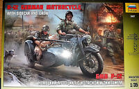 R-12 Moto Tedesca German Motorcycle Seconda Guerra Mondiale - Zvezda Kits 1:35