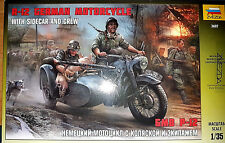 R-12 Moto Tedesca German Motorcycle Seconda Guerra Mondiale - Zvezda Kits 1:35