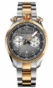 Bomberg Men's NS44CHSPPK-203-9 BB-68 Vintage 44mm Dark Gray and White Dial Watch