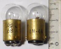 2 ampoules LM44 12 volts 2 watts B15D usage matériel militaire WWII US