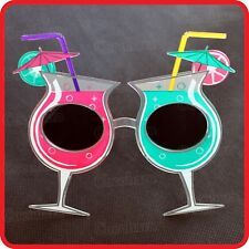 HAWAIIAN TROPICAL COCKTAIL GLASSES SUNGLASSES BEACH HOLIDAY DRINKING CUP-COSTUME