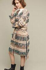 NWT Anthropologie by Tryb Hand Knit Textured Tassel Coat Sweater Medium $648