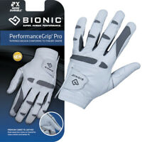 Bionic Golf Glove - PerformanceGrip - Mens Left Hand - Premium Leather - SMALL