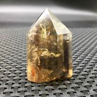 Natural Clear Citrine Quartz Crystal Hexagonal Wand Point Reiki Healing 1Pc
