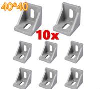 10× Winkel Befestigung Befestigungsmaterial 40x40 Streben Aluprofil
