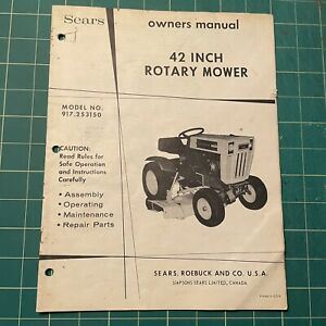 Sears Roebuck Rotary Mower Owner's Parts Manual 917.253150 Super 12 Lawn Tractor