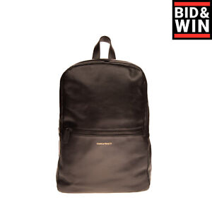 RRP €945 COMMON PROJECTS Leather Backpack Large Black Zipped Made in Italy