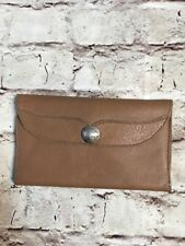 Handmade tan Leather Wallet Bifold buffalo nickel snap Kelly's leather USA