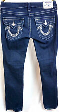 True Religon Jeans Billy Size 27 x 30 Bootcut Womens Low Rise Dark Wash Pants