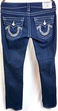 True Religon Jeans Billy Size 27 x 30 Bootcut Womens Low Rise Dark Wash Pants