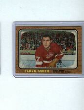 FLOYD SMITH SIGNED/AUTOGRAPHED 1966-67 TOPPS HOCKEY CARD #106 REDWINGS AUTO