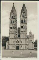 Ansichtskarte Koblenz am Rhein - St. Castorkirche - schwarz/weiß