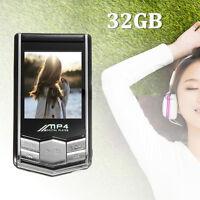 Hot Gift - 32GB MP4/MP3 Music Media Video Player LCD FM Radio Recorder +Earphone