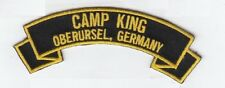 """Camp King, Oberursel Germany embroidered 4"""" scroll tab patch"""