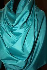 124 Yard Tiffany Blue Polyester Draping TAFFETA Solid Fabric Bolt Roll Turquoise