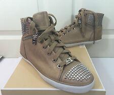 NEW MICHAEL KORS BOERUM Sneakers with Studs ~ Dark Khaki Pearlized MSRP $265!!