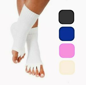 Yoga Gym Sports Massage Five Toe Separator Socks for Foot Alignment Pain Relief