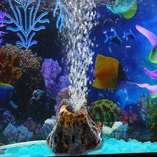 New listing Aquarium Air Bubble Stone Volcano Shape Tank Air Pump Fish Tank Ornament #Yin