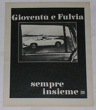 Advert Pubblicità 1968 LANCIA FULVIA SPORT ZAGATO
