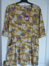 Joe Browns Unique Tunic Top Mustard Black Floral. UK 12 Worn Once