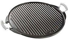 Vaello Campos 52cm Cast Iron Griddle Round Plate/Skillet/BBQ Silver, 53 Cm
