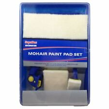 SupaDec Decorator Mohair Paint Pad Set with Handles Pads Tray Painting