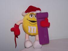 M & M Yellow Plush Stuffed Candy Purple Sled / Snowboard Tags