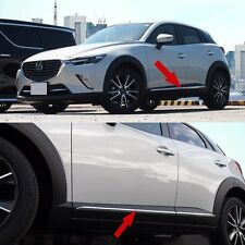4pcs Chrome Body Side Door Molding Cover Trim Garnish fit 2016-2019 Mazda CX-3