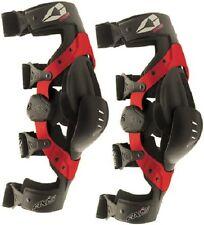 EVS Axis Sport Knee Braces Large Pair Set Black Red New