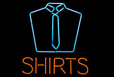 """Dry Cleaning Laundry Shirts 20""""x16"""" Neon Sign Light Lamp Beer Bar With Dimmer"""