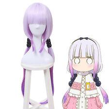 Miss Kobayashi's Dragon Maid Kamui Kanna Gradient Purple Cosplay Full Wig