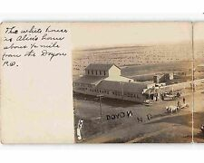 ST1489: BIRD'S EVE VIEW DOYON ND  (sharp double RPPC/postcard 1907 postmark)