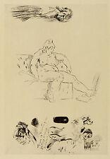 Félicien Rops: Praller Akt auf Sofa, um 1905