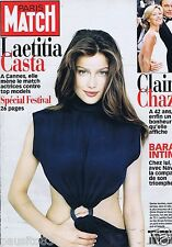 Couverture magazine,Coverage Paris Match 27/05/99 Laetitia Casta