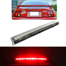 Fit 99-04 Ford Mustang Rear Smoke LED Third 3rd Brake Light Trunk Stop Lamp