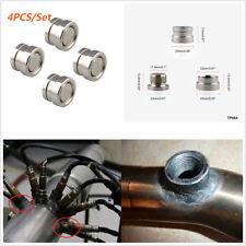 4Pcs Universal Car M18X1.5 O2 Oxygen Sensor Stepped Mounting Bung Fittings Plugs