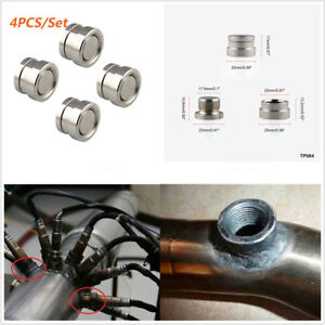 4Pcs Universal Car M18X1.5 O2 Oxygen Sensor Stepped Mounting Bung Fittings Plugs