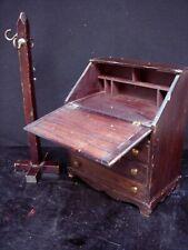 Vintage Front Drop Secretary Desk & Coat/Hat Rack Stand for Antique Dolls